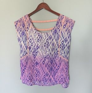 American Eagle Purple Ombre with Coral Back